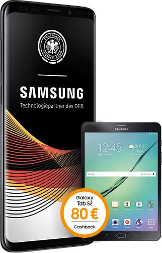 Samsung Galaxy S9+ + Galaxy Tab S2 im Telekom MagentaEINS Mobil M Young (12 GB LTE) inkl. 80€ Cashback (bei Verkauf für eff. 4,73€ / Monat)