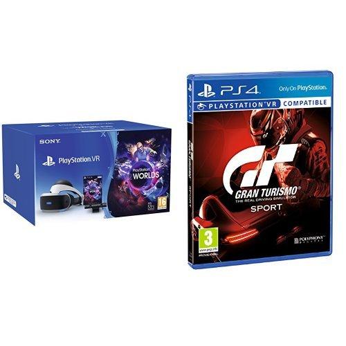 PlayStation VR Brille V2 + PlayStation Kamera + Gran Turismo: Sport + VR Worlds für 231,78€ (Amazon.it)
