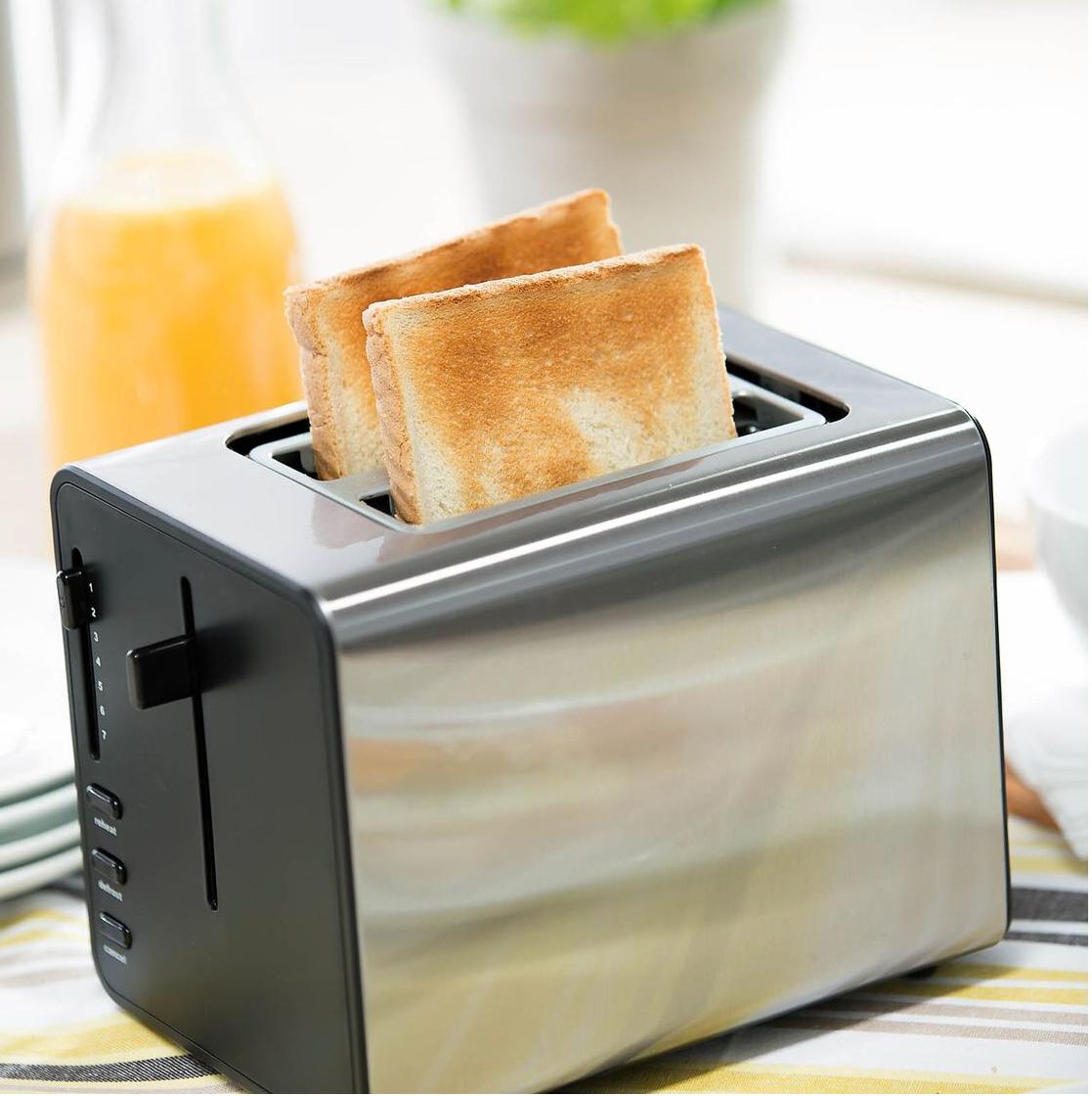 Edelstahl Toaster für 16,99€ + kostenlose Lieferung in Filiale