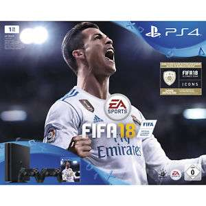 Sony PlayStation 4 (PS4) Slim 1TB + FIFA 18 + 2 Controller (Bei ebay)