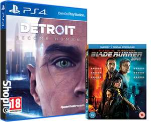 Detroit: Become Human (PS4) + Digital Soundtrack & Dynamisches PS4 Design + Blade Runner 2049 (Blu-ray) für 48,76€ (Shopto)