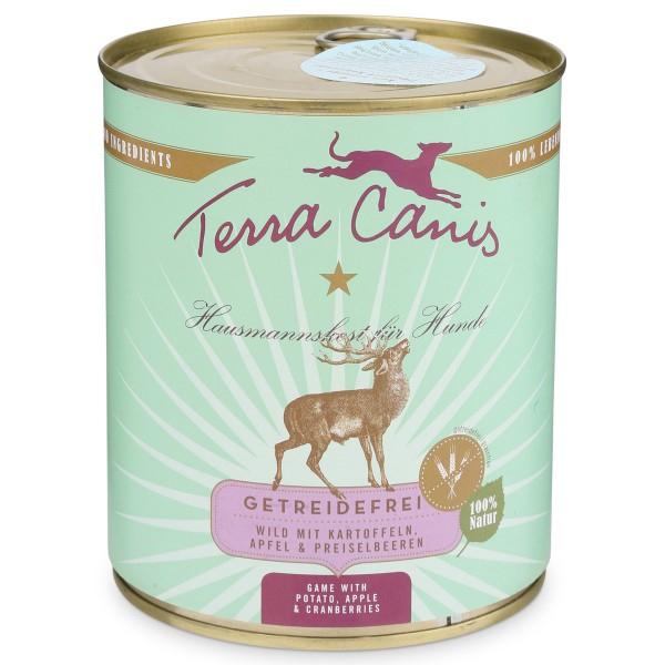 Terra Canis Hundefutter getreidefrei Wild mit Kartoffeln, Apfel und Preiselbeeren 800g Dose [zooroyal Wau-Deal]