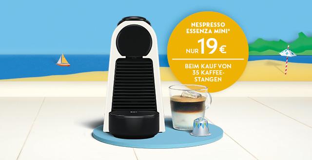 Nespresso Essenza Mini für 19€ bei Kauf von 35 Stangen Kaffee in der Nespresso Boutique