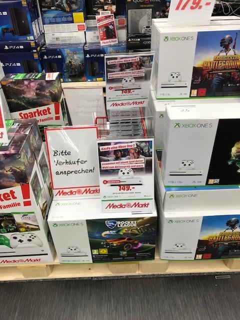 MM München Einsteinstraße: Xbox One S 500 gb + Game ab 149€ und 179€ bei 1 TB