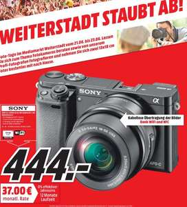 Sony Alpha 6000 mit Kit Objektiv (16-50mm) [lokal MM Weiterstadt]