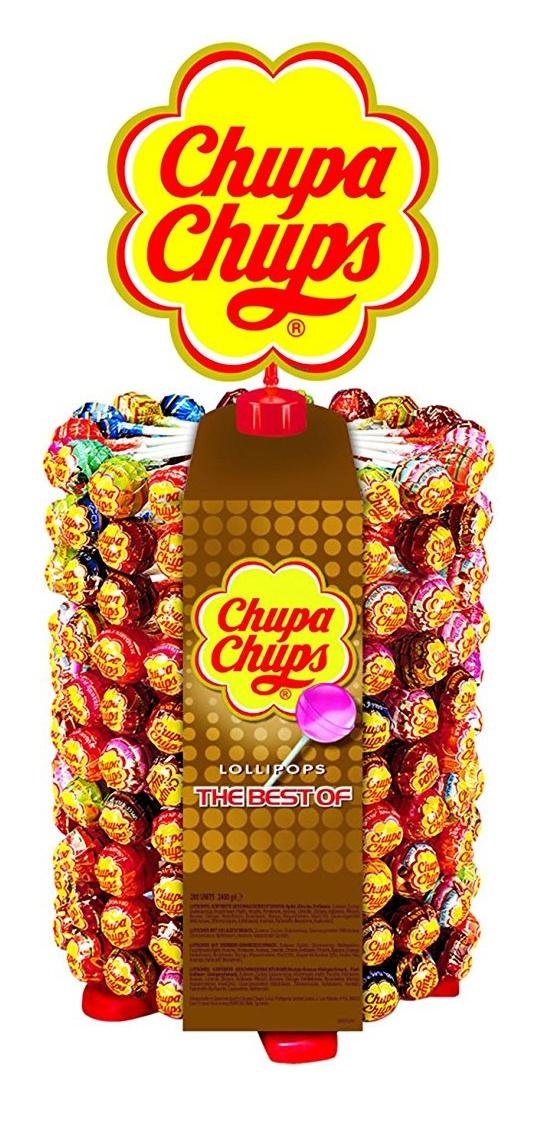 Chupa Chups 200 Stk. (180er Lutscherrad plus 20 Lollis gratis)   Lollipop-Ständer [Prime]