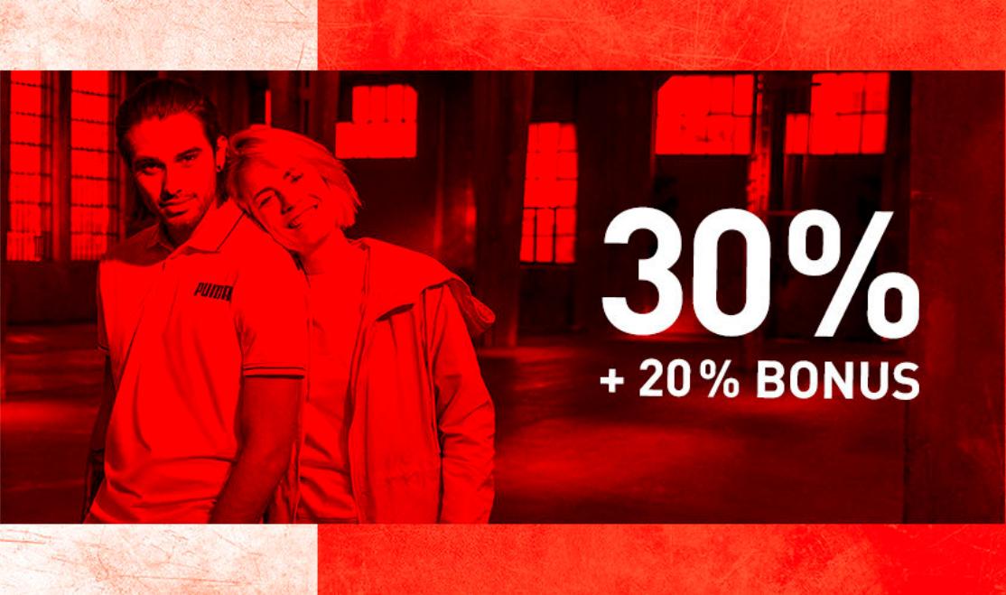 Puma - Nur heute im End of Season Sale Bonus Day 20% Extra-Rabatt auf über 2000 Sale-Artikel
