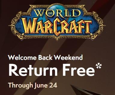 World of Warcraft: Kostenloses Wochenende vom 22.6.-24.6.