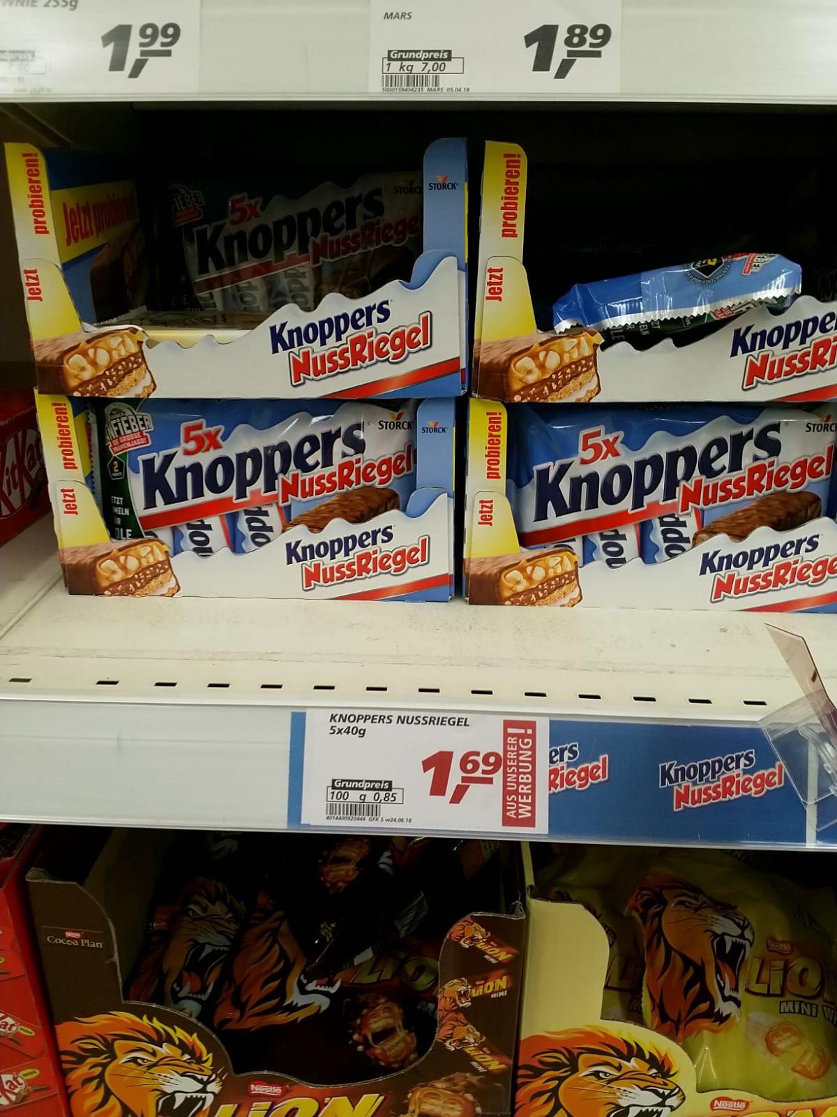 Knoppers Nussriegel 5x40g bundesweit im Real Markt