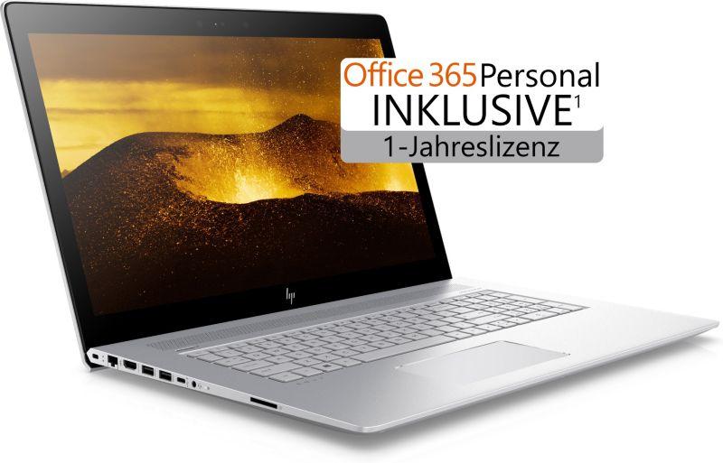 """HP Envy 17 17-ae143ng: 17,3"""" FHD IPS, Intel Core i5-8250U, 8GB RAM, 1TB HDD + 128GB SSD, GeForce MX150, Bel. Tastatur, Alu-Gehäuse, Bel. Tastatur für 799,95€ (Cyberport)"""