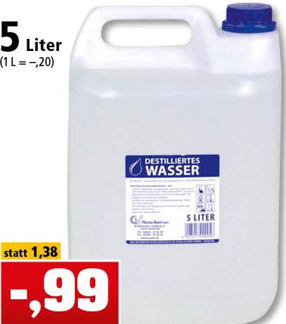 5 Liter Destilliertes Wasser [Philipps]