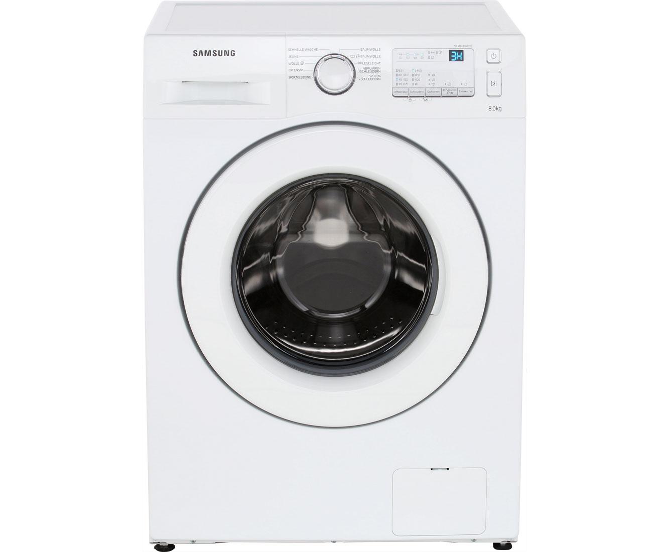 Samsung Spartage: Waschmaschine 8 kg, 1400 U/Min, A+++ für 319€ + 30€ Cashback