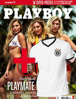 Playboy 7/2018 mit WM-Poster + Playboy WM-Trikot für 14,90€