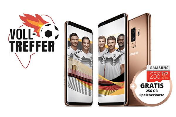 o2 Free M mit 10GB LTE für 29,99€ + Samsung Galaxy S9 für 4,95€ oder Galaxy S9+ für 79€ Zuzahlung + Samsung Evo+ 256GB Speicherkarte umsonst dazu