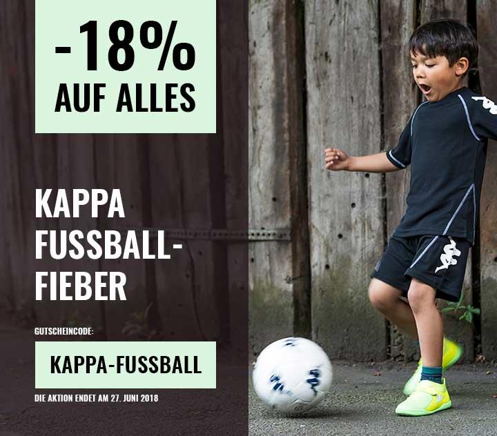 Kappa Fußballfieber = 18% Rabatt auf alles!