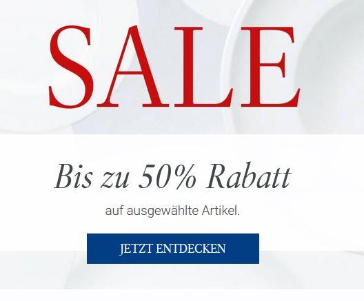 bis zu 50% Rabatt bei Villeroy & Boch - Summer Sale