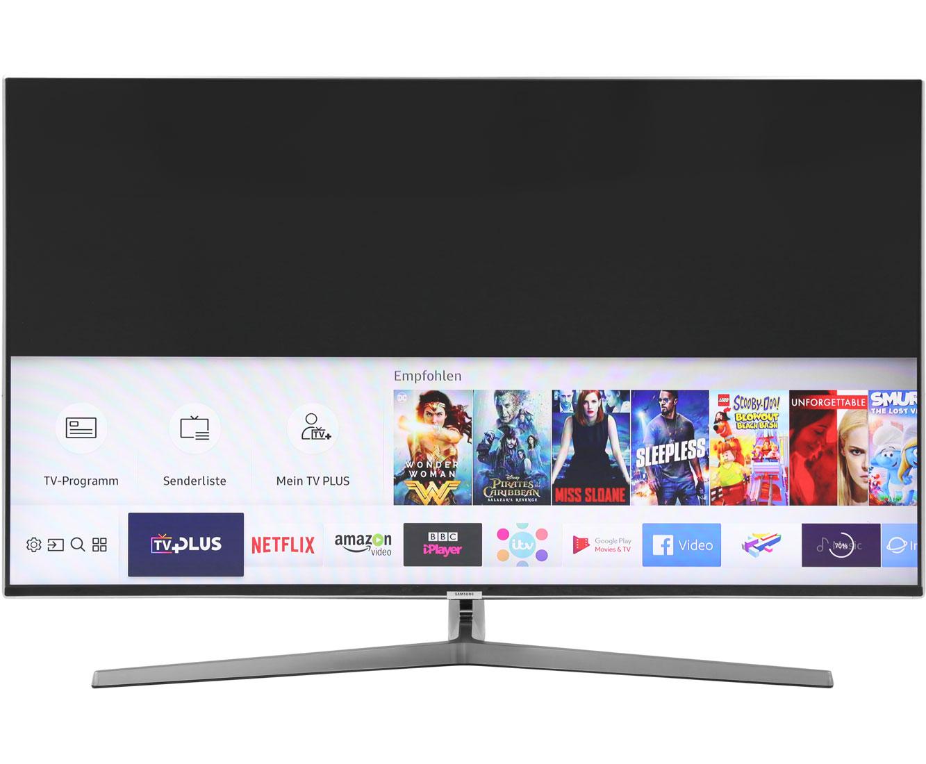 [ao.de] Samsung MU8009 138 cm (55 Zoll) Fernseher (Ultra HD, Twin Tuner, HDR 1000, Smart TV, 120hz, 10 bit) silber