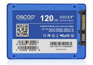 OSCOO 120GB SSD 2.5 inch SATA III Solid State Drive up to 560MB/s