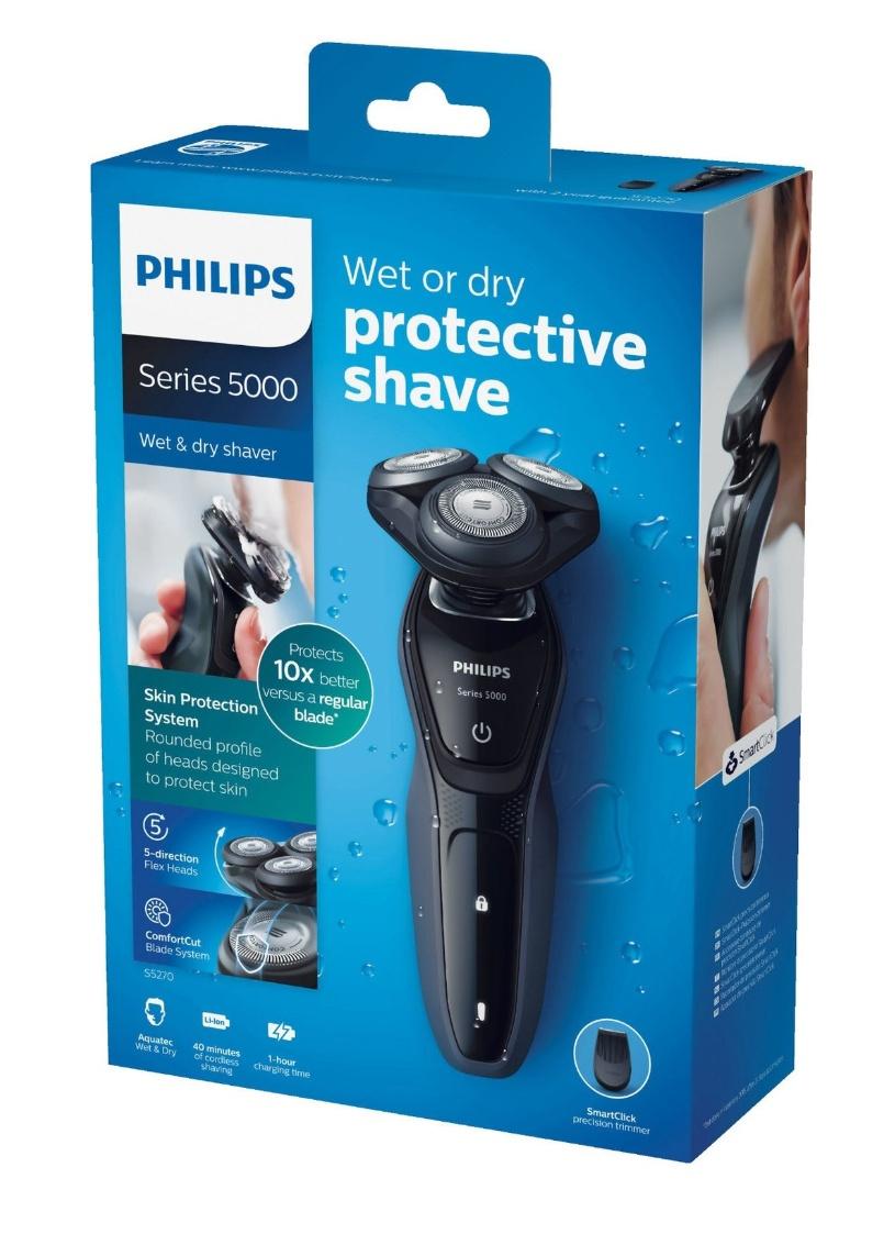 PHILIPS Shaver Series 5000 S5270/06 Elektrischer Nass- und Trockenrasierer, inkl. Präzisionstrimmer