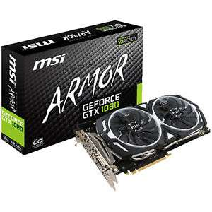 MSI GeForce GTX 1080 Armor 8G OC für 482,67€ [Saturn Ebay]