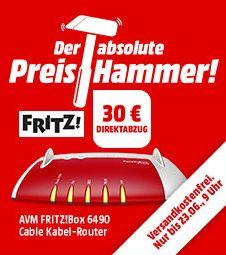 AVM FRITZ!Box 6490 Cable  für 139,-€ [Mediamarkt]