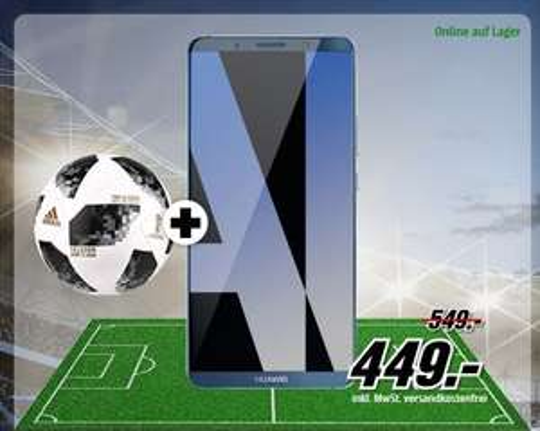 HUAWEI Mate 10 Pro 128 GB in 2 Farben inc. Fußball für 449,-€ [Mediamarkt]
