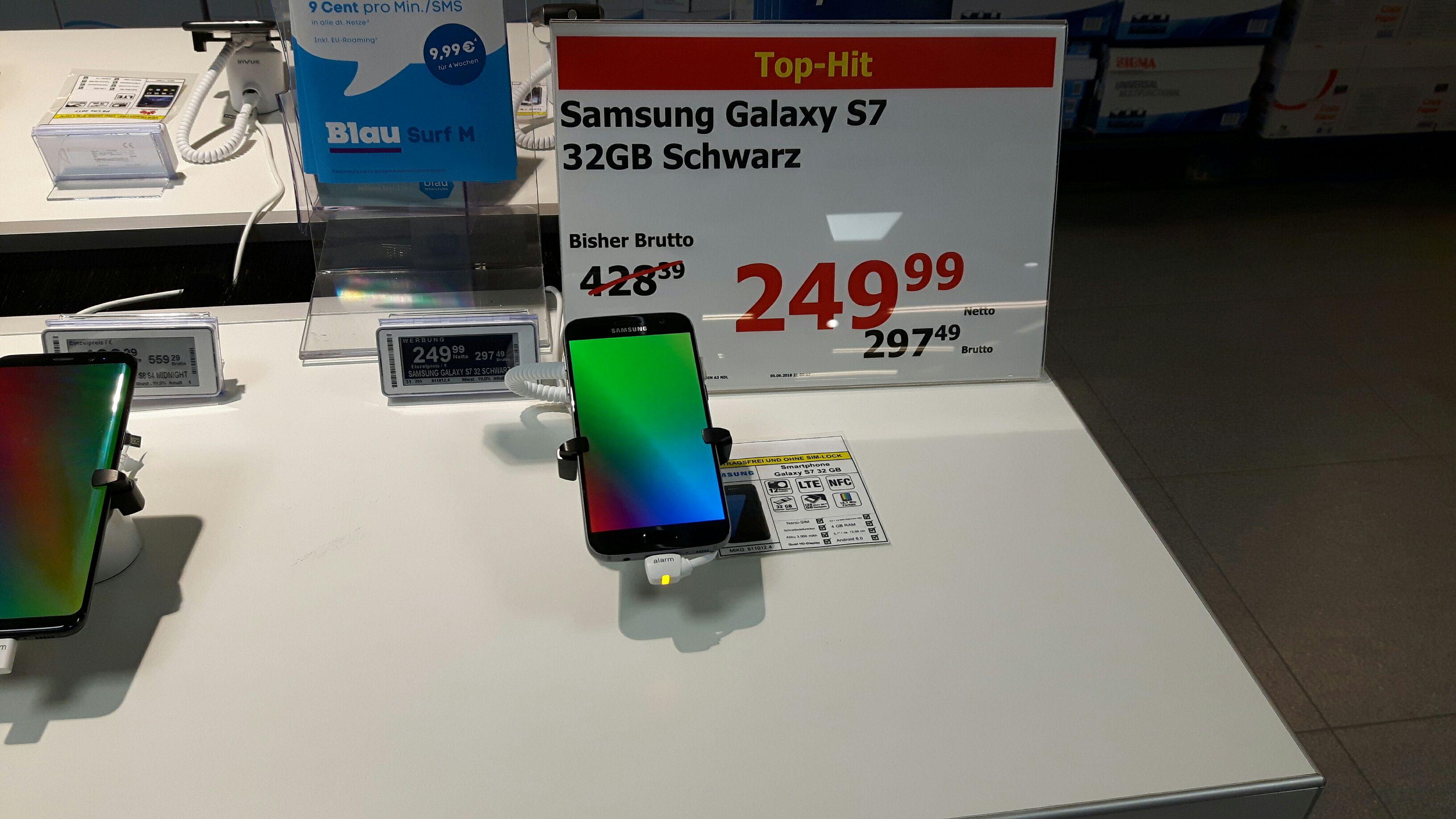 [METRO Düsseldorf] Samsung Galaxy S7 Smartphone (schwarz) für 297,49 EUR