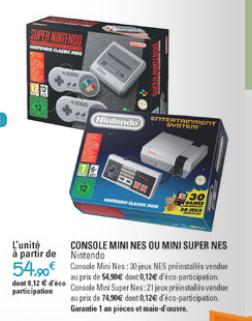 [Lokal Grenzgänger Frankreich] Nintendo Classic Mini: Nintendo Entertainment System für 54,90 € und bereits verfügbar!