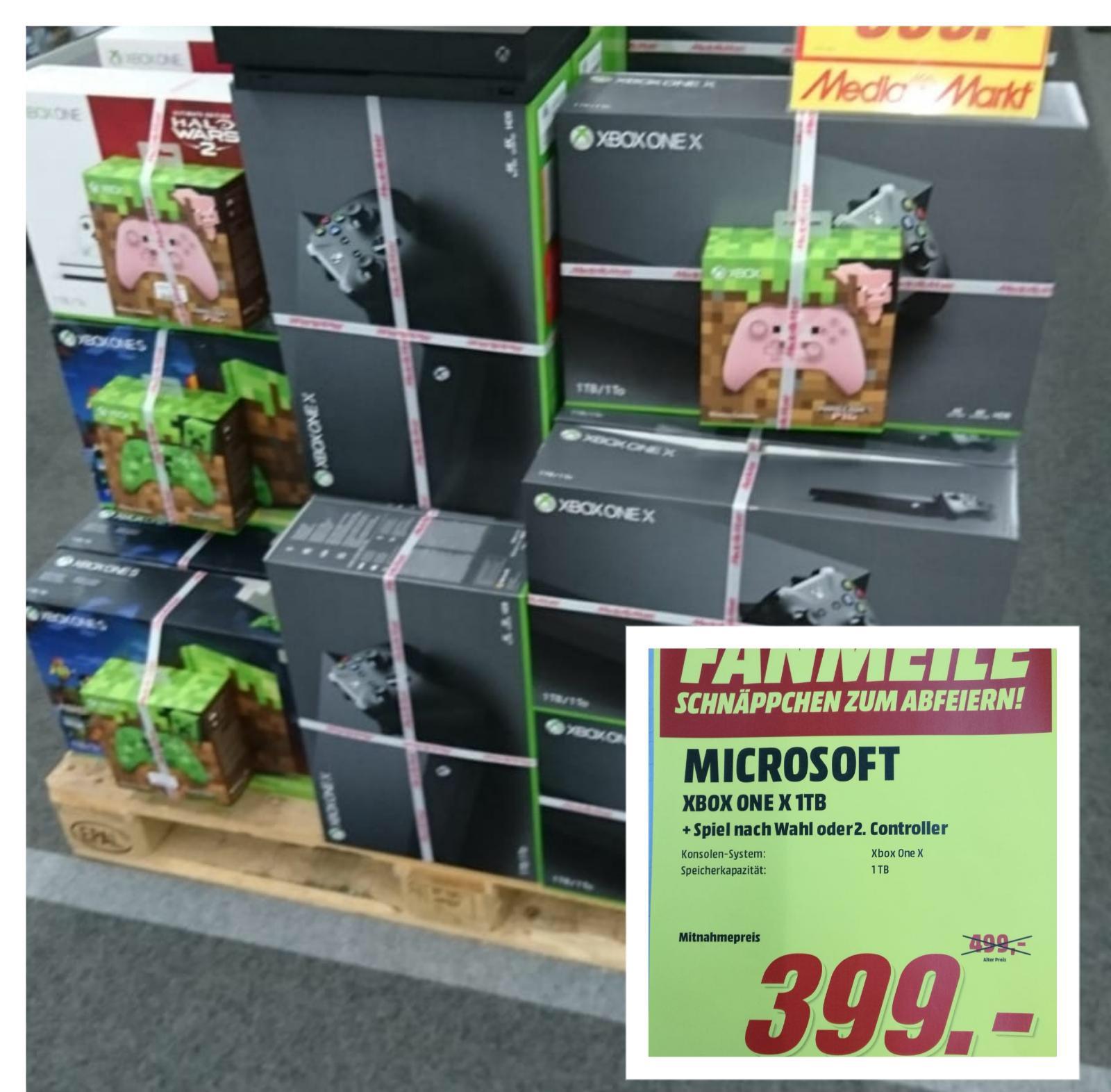(LOKAL) XBOX ONE X inkl. 2tem Controller oder Spiel nach Wahl, Media Markt Weiterstadt