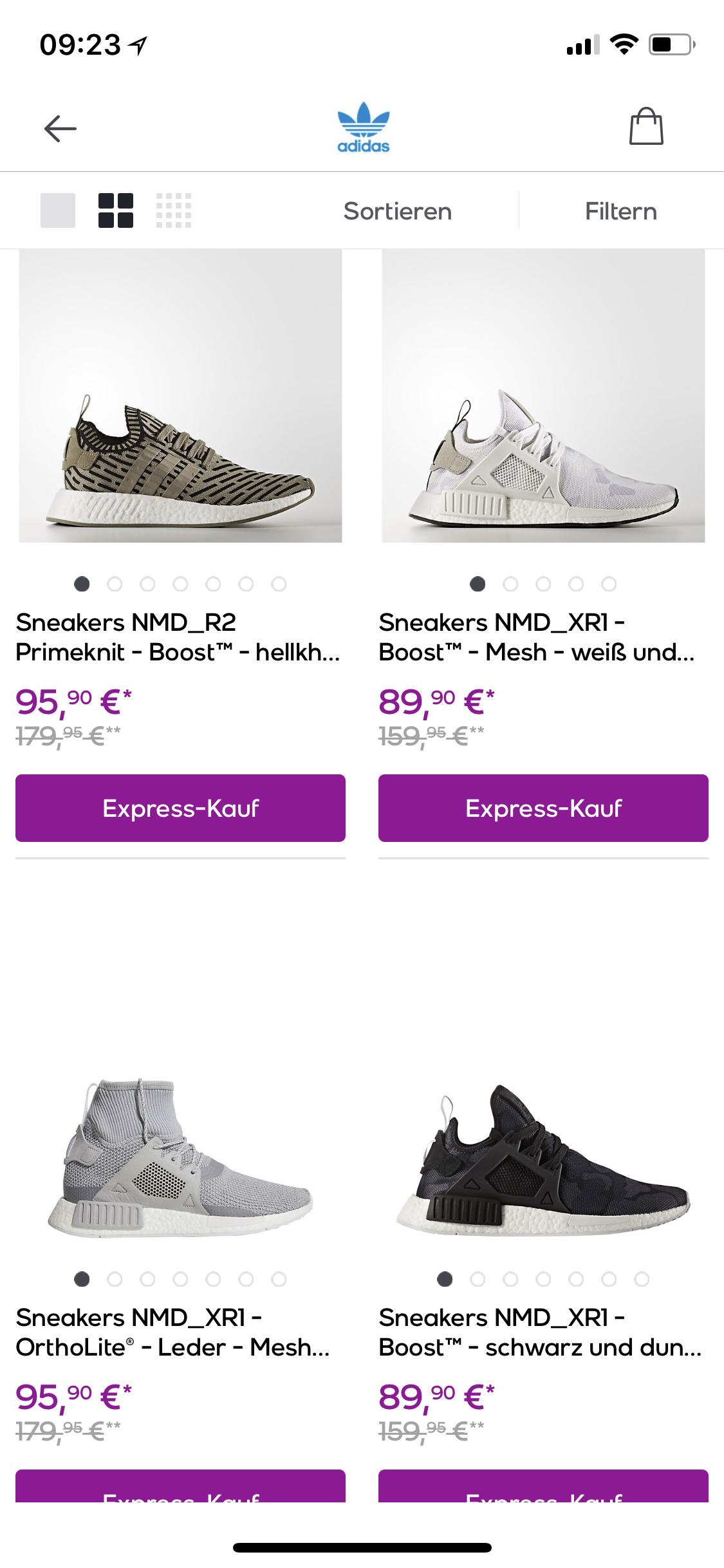 adidas Originals Sale bei VP - Adidas NMD ab 86,50€ und andere Modelle