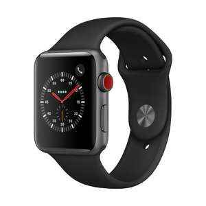 [Interdiscount CH] Apple Watch Series 3 mit und ohne Cellular ab 267,54 € u.a. ​APPLE Watch Series 3, 38 mm, GPS + Cellular, Sportarmband, Space Grau/Schwarz [268,92 €]