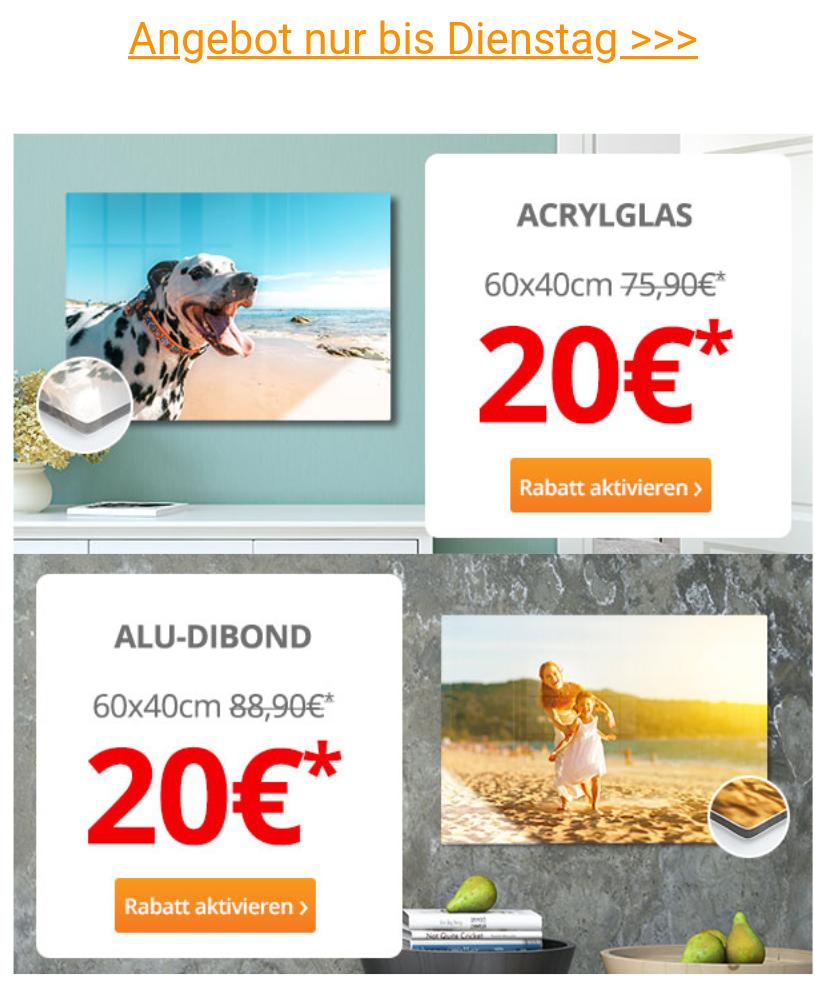 (WIEDER DA) Foto auf Acrylglas oder Alu-Dibond: 60x40cm 20 € [meinfoto.de]