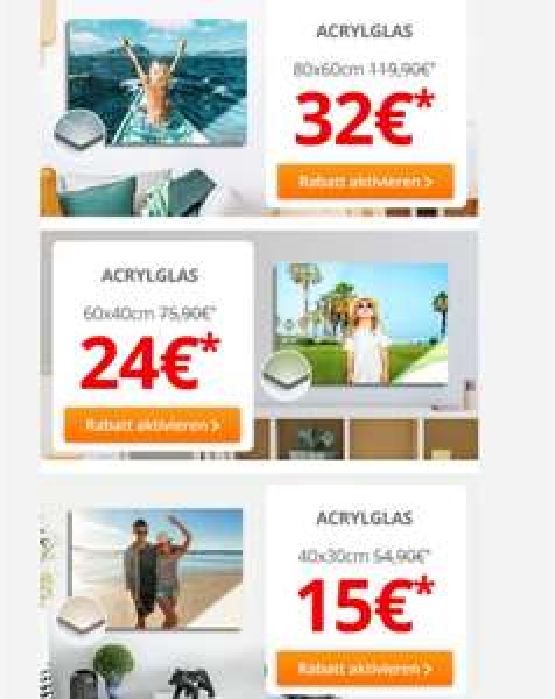 (WIEDER DA) Foto auf Acrylglas: 80x60cm 32 € 60x40 24 € 40x30 15 € [meinfoto.de]