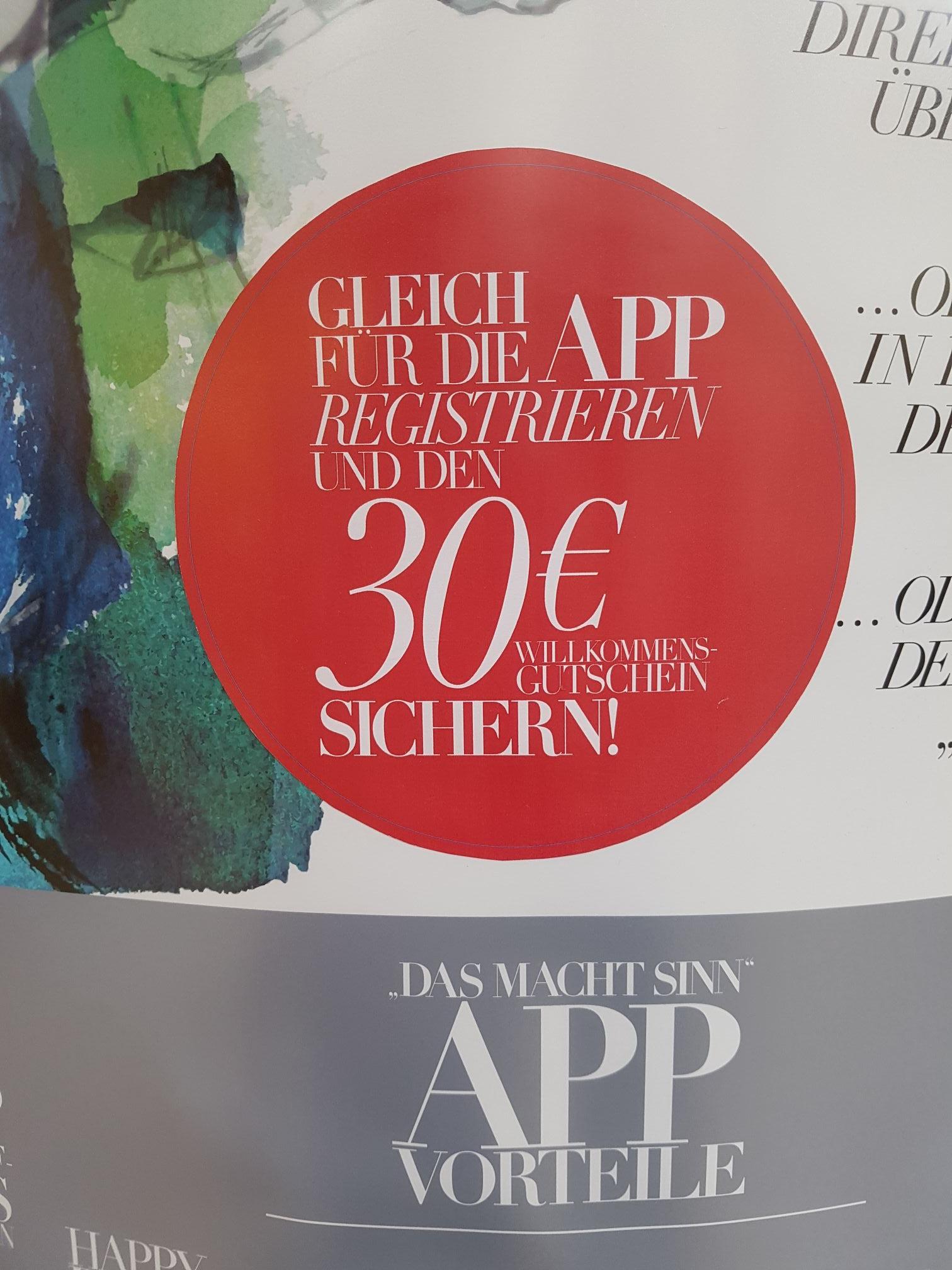 Sinnleffers 30€ Abzug ab 100€ durch Appregistrierung