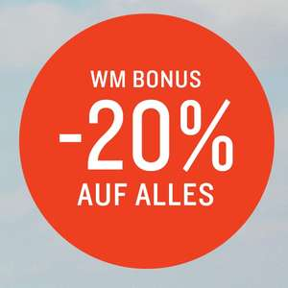 WM-Special: 20% Rabatt auf alles bei Tom Tailor, auch auf Sale-Artikel