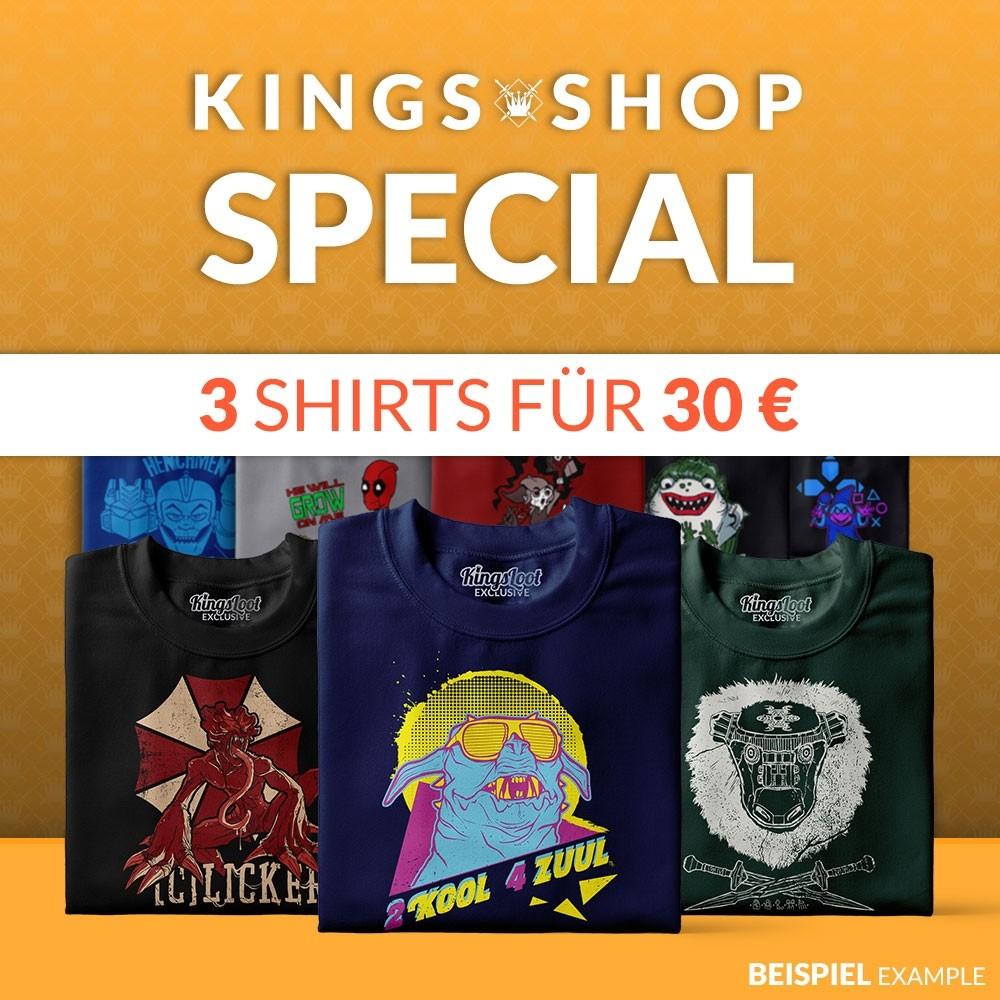 [KingsLoot] T-Shirt Überraschungsbox - 3 Shirts für 30€