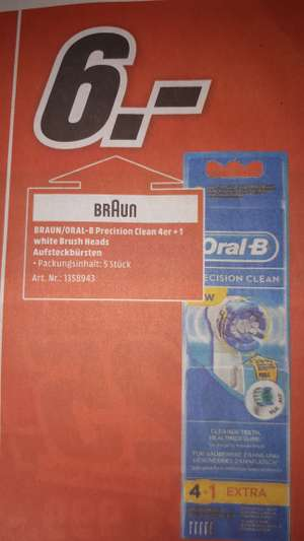 Oral B Precision Clean 4+1 Aufsteckbürsten [lokal Heidelberg]