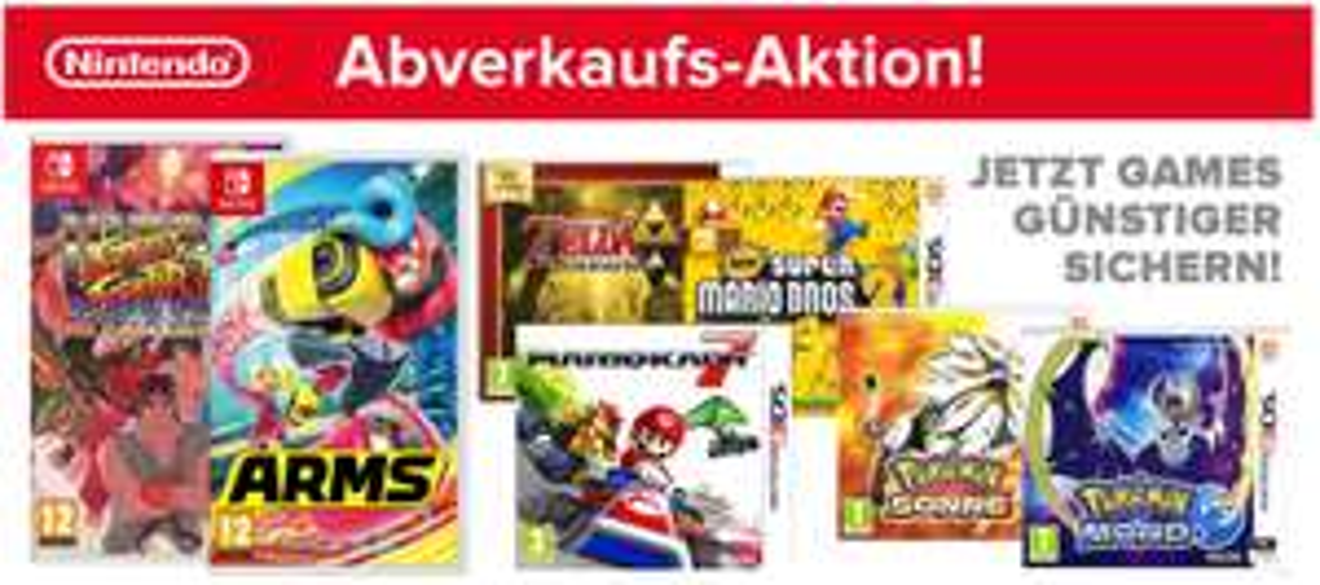 [electronic4you.de] Große Nintendo Abverkaufs-Aktion - Viele Top-Preise auf Nintendo Switch und 3DS-Spiele