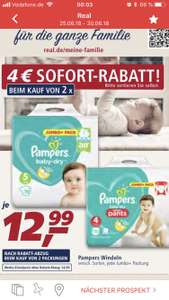 Pampers baby dry bei Real National