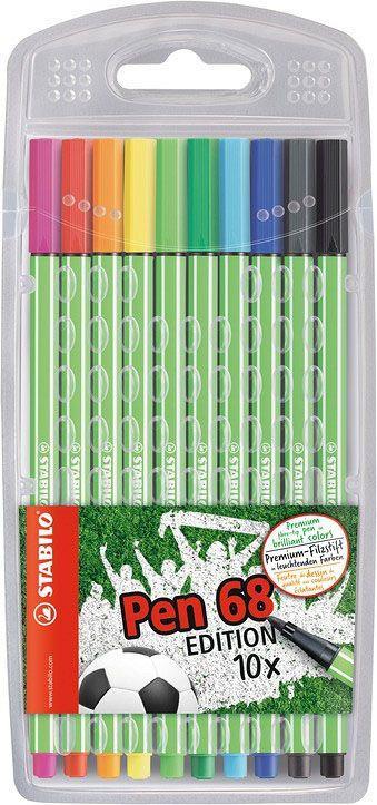 STABILO Fasermaler Pen 68 Green Edition 10 verschiedenen Farben für 4,99€ (Müller)