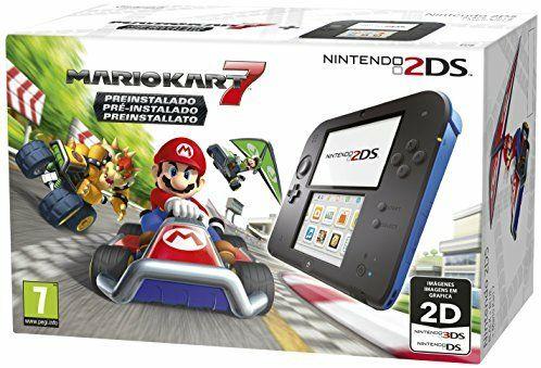 Nintendo 2DSschwarz-blau + Mario Kart 7