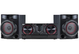 [MM oder Amazon] LG CJ44 Kompaktanlage (480 Watt, Bluetooth, USB, FM Radio) schwarz/rot