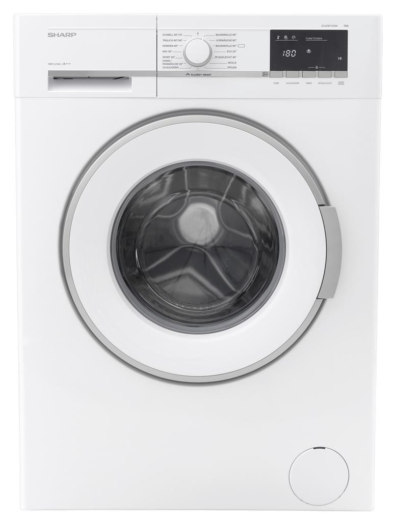 SHARP Waschmaschine Waschautomat ES-GFB7145W-DE A+++