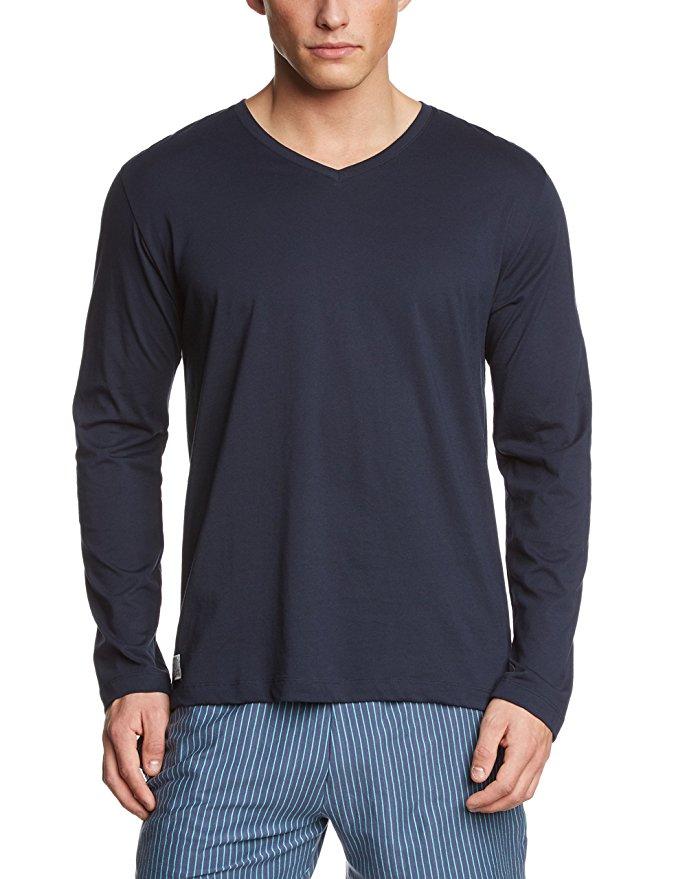 [Amazon] Schiesser Schlafanzug Blau Herren Langarmshirt oder passende kurze Hose je 8,95€ in fast allen Größen