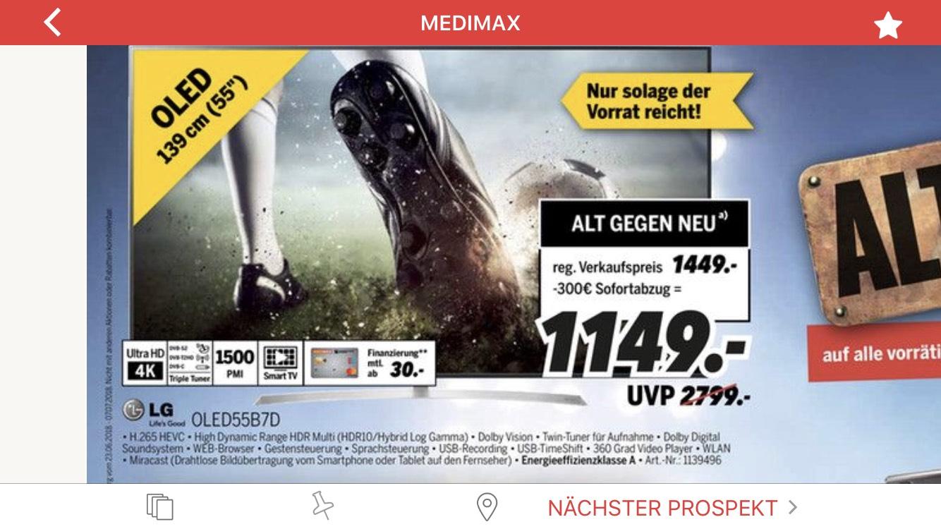 [Lokal Regensburg] Medimax LG Oled55b7d