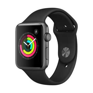 [Microspot CH] APPLE Watch Series 3, 42 mm, GPS, Sportarmband, Grau/Schwarz [276,82 €]