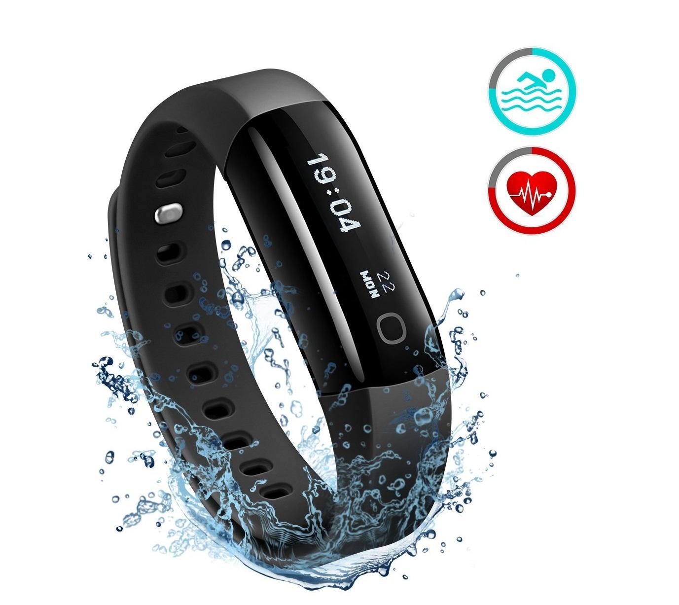 Mpow Smart Fitness Tracker Armband (wasserdicht IP68)