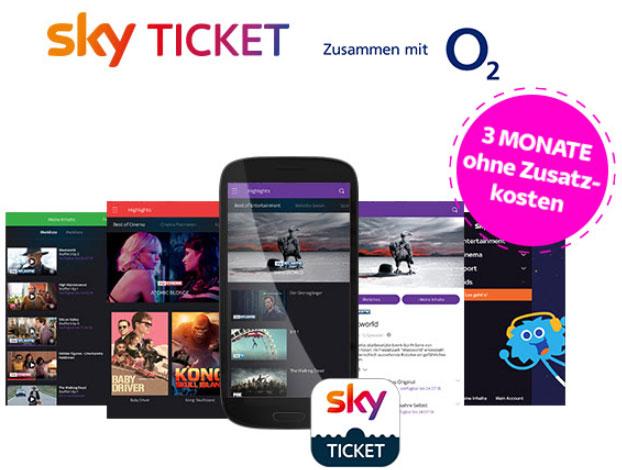 [für O² Kunden only] 3 Monate Sky ticket Entertainment kostenlos