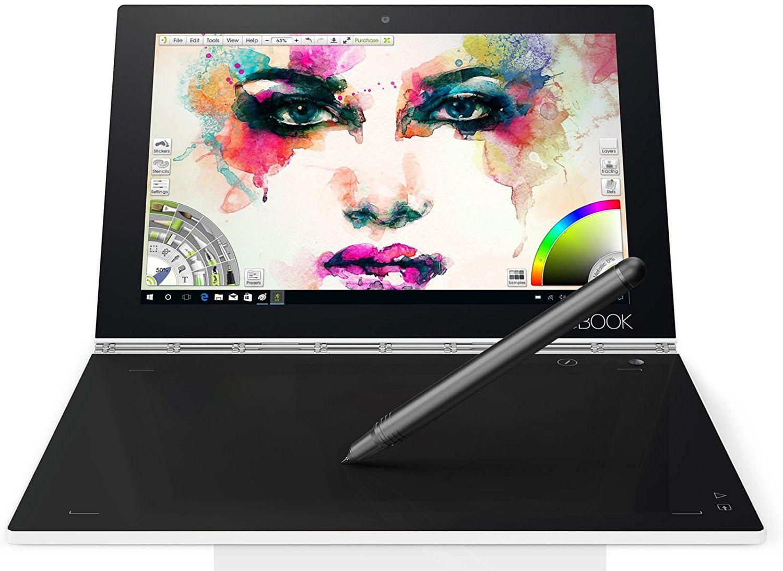 Lenovo Yoga Book 25,5 cm 10,1 Zoll Convertible (Intel Z8550, 4GB RAM, 128GB eMMC, Windows 10 Pro) weiß