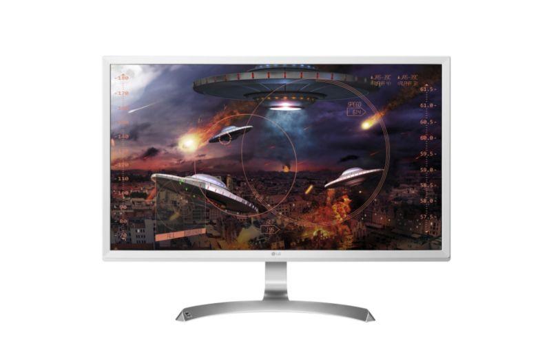 """[cyberport] LG Electronics 27UD59-W - 27"""" UHD 4K Monitor (3840x2160, 5ms, IPS, 8bit+FRC, 99% sRGB, 60 Hz, AMD FreeSync, 2x HDMI, DP, VESA)"""